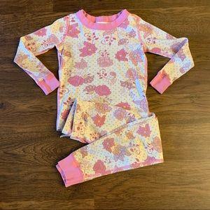 Hanna Andersson Pink Rose Long John Pajamas